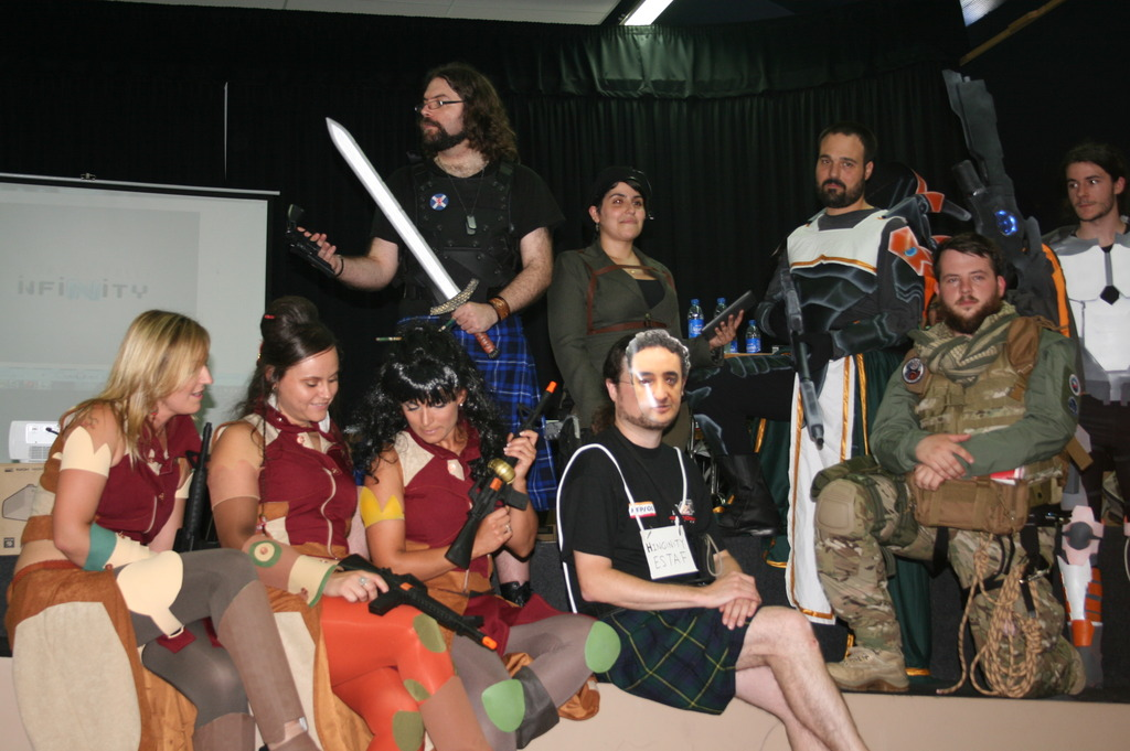 Cosplay contest participants